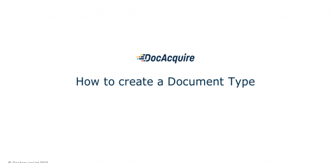 How to create a Document Type