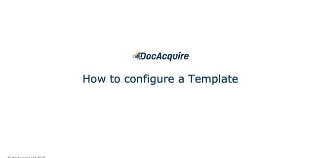 How to configure a Template